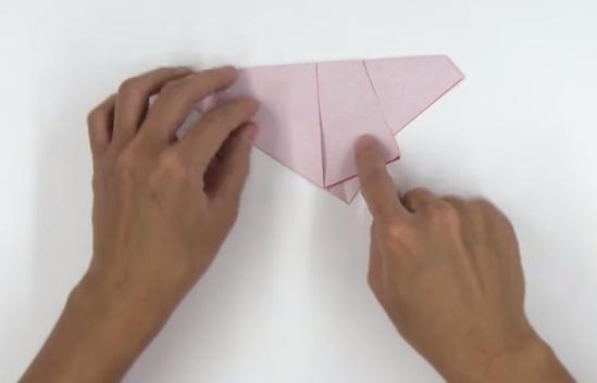Hoa hồng giấy Origami kiểu mới - bước 1