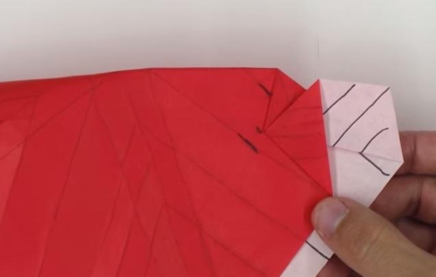 Hoa hồng giấy Origami kiểu mới - bước 3