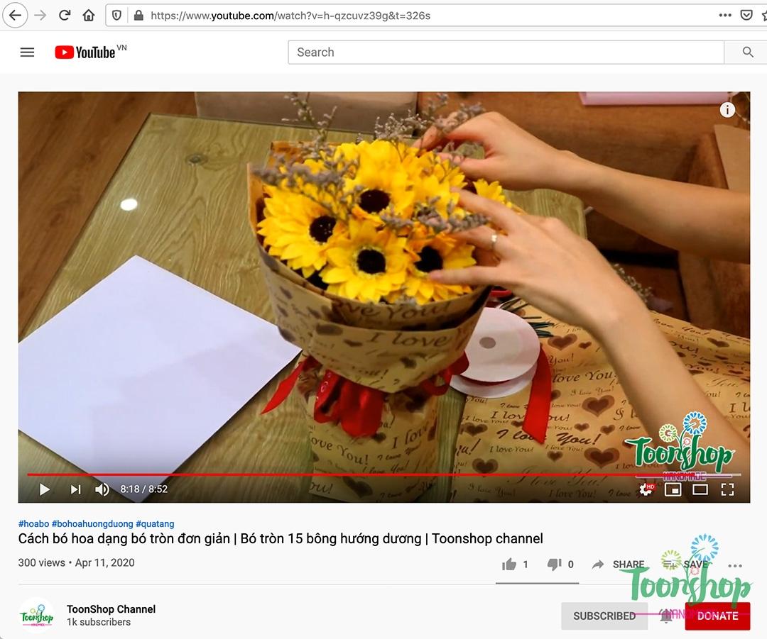 Làm thế nào để bó một bó hoa hướng dương tròn sang trọng và đẹp