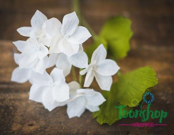 Làm hoa lài trâu sắc trắng tinh khôi trang trí nhà đẹp tinh tế