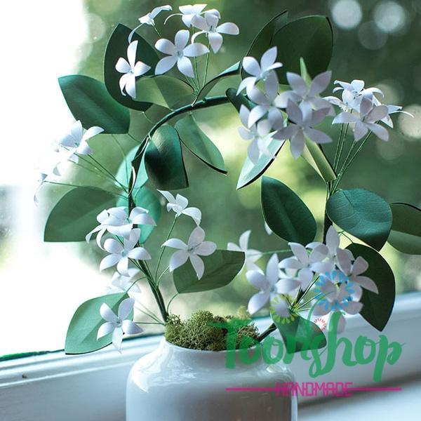 Hướng dẫn làm hoa nhài bằng giấy trang trí góc nhà thêm tinh tế
