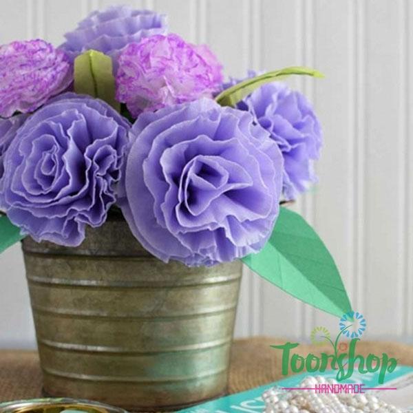 Hướng dẫn làm hoa cẩm chướng giấy nhún trong vòng 3 nốt nhạc