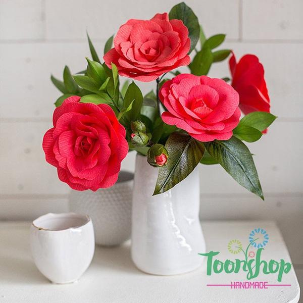 Cách làm hoa trà Camellia độc đáo và lạ đẹp