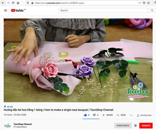 Hướng dẫn bó hoa hồng giấy đơn dễ dàng và chi tiết
