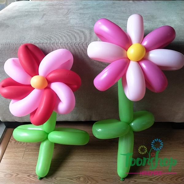 Hướng dẫn làm bông hoa bóng bay siêu đẹp, siêu cute