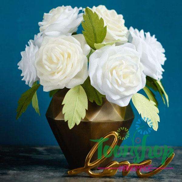 2 bước đơn giản để làm lọ hoa hồng ghép cánh