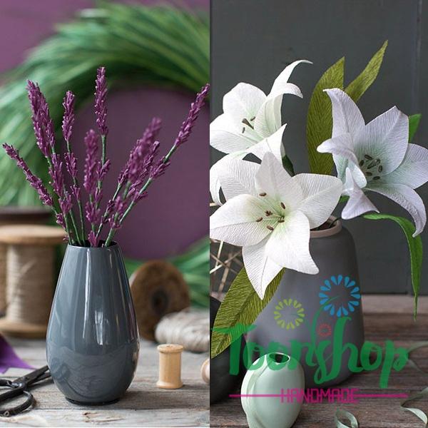 Cách làm hoa Lavender và Lily cực dễ trang trí nhà cửa