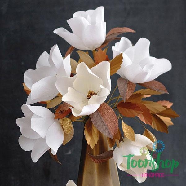 Cùng ToonShop làm bình hoa mộc lan trắng đẹp tê tái