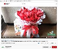 Cách làm một bó hoa kẹo trái tim cực ngầu để tặng người yêu