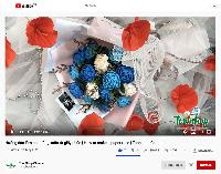 Làm hoa hồng xoắn giấy nhún xinh yêu