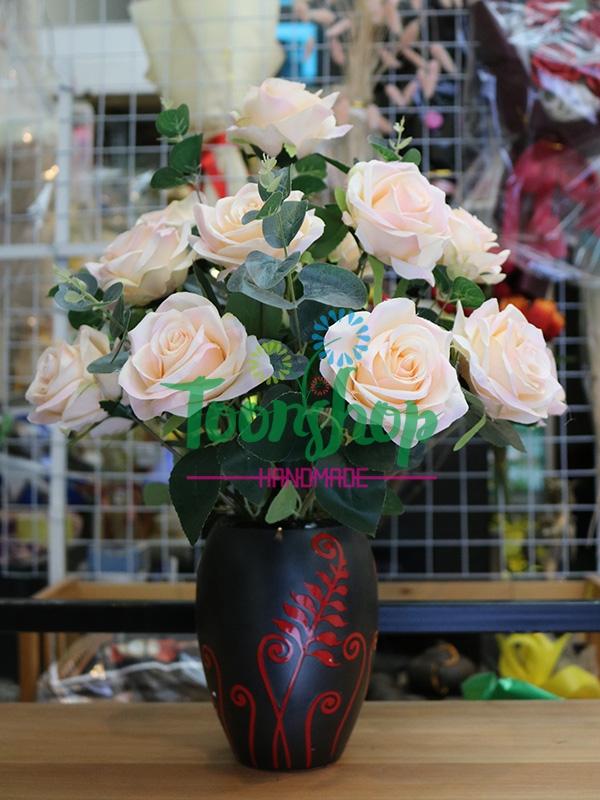 Bình hoa hồng Bốn Mùa Yêu Thương 01