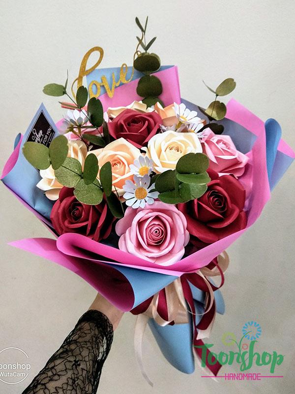 Bó hoa hồng giấy Yêu Trọn Đời