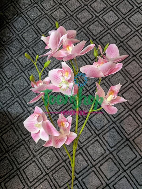 Cành lan hồ điệp 3 nhánh cánh nhỏ hồng phớt 01
