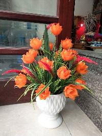 Bình hoa Tulip đá màu cam 03
