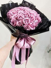 Bó hoa hồng sáp thơm Nồng Nàn