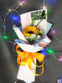 Bó hoa hướng dương sáp đơn