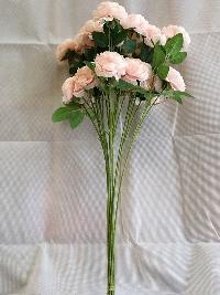 Cành hồng 2 bông 1 nụ màu hồng 02