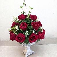 Chậu hoa hồng nhung Nồng Nàn Sắc Đỏ