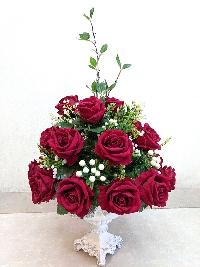 Chậu hoa hồng nhung Nồng Nàn Sắc Đỏ 02