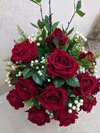 Chậu hoa hồng nhung Nồng Nàn Sắc Đỏ 03