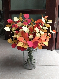 Lọ cành lá mùa thu vàng đỏ 01