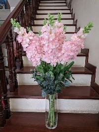 Lọ hoa phi yến hồng 10 cành 01
